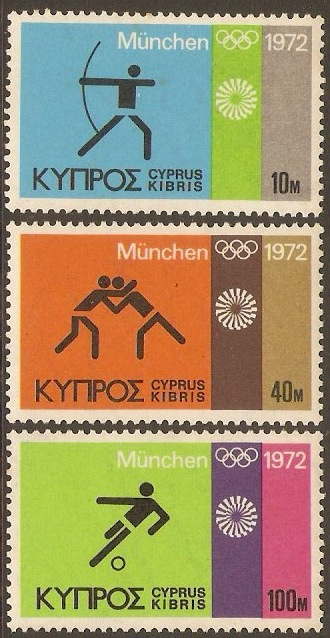 Cyprus 1972 Olympic Games Set. SG390-SG392.