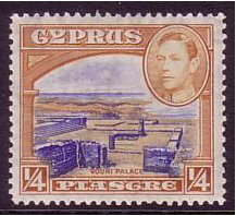Cyprus 1938 ¼pi Ultramarine & orange-brown. SG151.