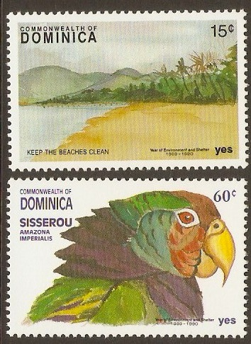 Dominica 1991 Environment Year and Shelter Set. SG1503-SG1504