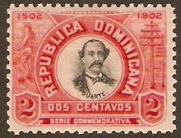 Dominican Republic 1902 2c black and red. SG126.