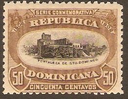 Dominican Republic 1902 50c black and brown. SG131.