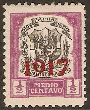 Dominican Republic 1917 ½c Black and violet. SG220.