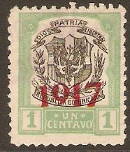 Dominican Republic 1917 1c Black and green. SG221.