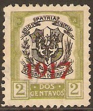 Dominican Republic 1917 2c Black and olive. SG222.