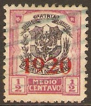 Dominican Republic 1920 ½c Black and rose-lake. SG225.