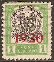 Dominican Republic 1920 1c Black and green. SG226.
