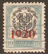 Dominican Republic 1920 10c Black and blue. SG229.