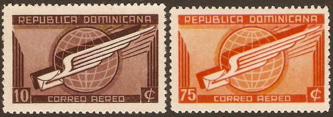 Dominican Republic 1941 Air mail stamps. SG473-SG474.