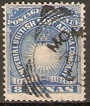 British East Africa 1890 8a Blue. SG12.