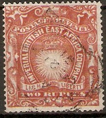 British East Africa 1890 2r Brick-red. SG16.