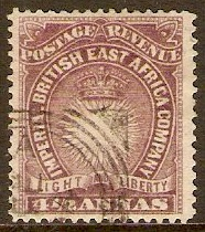British East Africa 1890 4½a Brown-purple. SG11a.