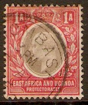 East Africa and Uganda 1903 1a Grey and red. SG2.