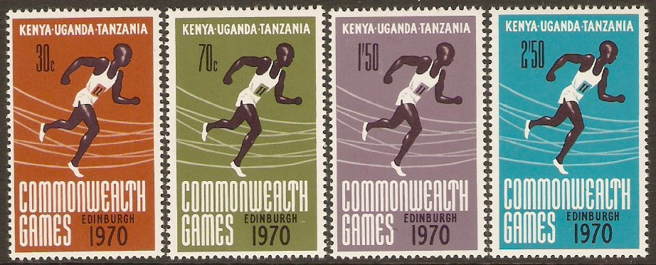 KUT 1970 Commonwealth Games Stamps Set. SG280-SG283.