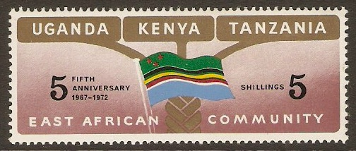 KUT 1972 East African Community Anniversary Stamp. SG324.