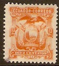 Ecuador 1881 10c Orange. SG16.