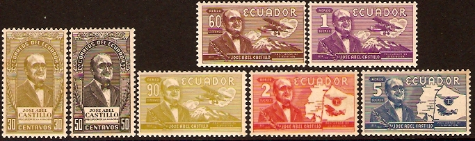 Ecuador 1955 Castillo Commemoration. SG1035-SG1041.