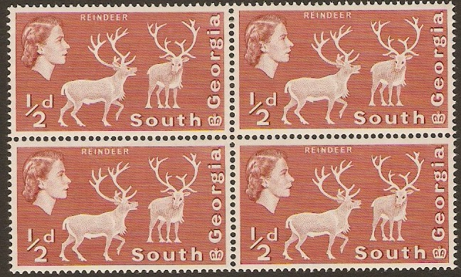 South Georgia 1963 ½d Brown-red. SG1.
