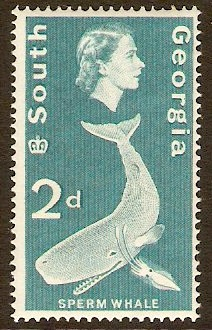 South Georgia 1963 2d Turquoise-blue. SG3.