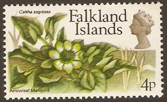 Falkland Islands 1972 4p Flowers Decimal Currency Series. SG282.