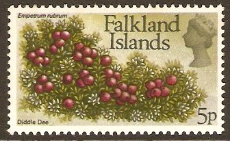 Falkland Islands 1972 5p Flowers Decimal Currency Series. SG283.