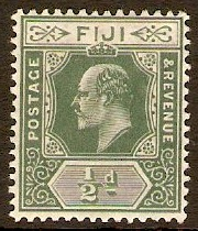 Fiji 1904 ½d Green and pale green. SG115.