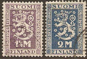 Finland 1927 Independence Anniversary Set. SG255-SG256.