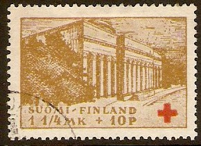 Finland 1932 Red Cross Stamp. SG293.