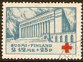 Finland 1932 Red Cross Stamp. SG295.