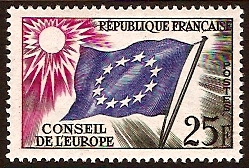 France 1958 25f Flag of Europe. SGC4.