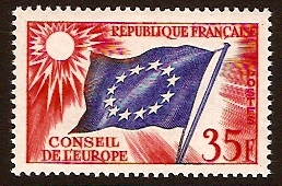 France 1958 35f Flag of Europe. SGC5.