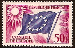 France 1958 50f Flag of Europe. SGC6. - Click Image to Close