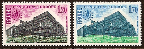 France 1978 Human Rights Stamp. SGC25-SGC26.