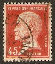France 1923 45c Red - Pasteur Stamp Series. SG398.