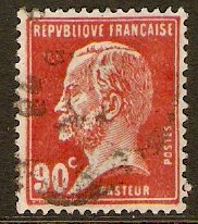 France 1923 90c Red - Pasteur Stamp Series. SG400a.