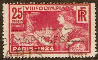 France 1924 25c Olympic Games Series. SG402.