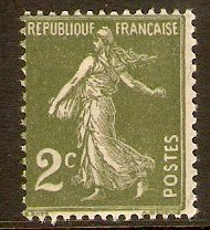 France 1932 2c Blackish green. SG498.