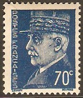 France 1941 70c Blue Marshal Petain Series. SG714.