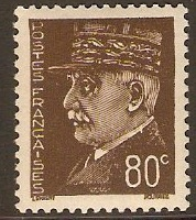 France 1941 80c Chocolate Marshal Petain Series. SG716.