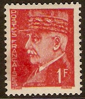 France 1941 1f Scarlet Marshal Petain Series. SG718.