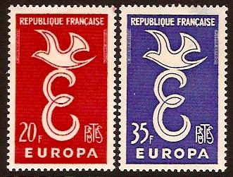France Stamps 1958 Europa Stamps SG1397 SG1398 13865 Kayatana