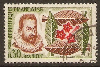 France 1961 30c Tobacco Anniversary Stamp. SG1517.