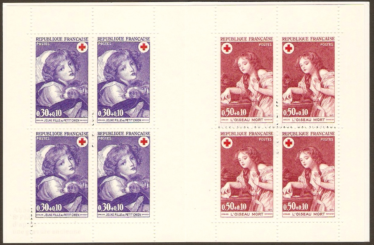 France 1971 Red Cross Stamp Booklet. SGXSB21.