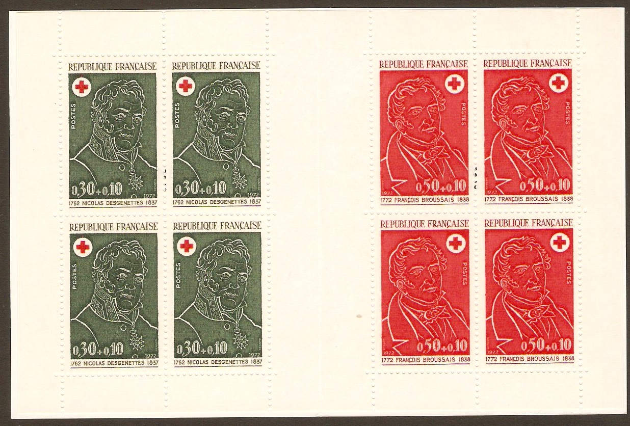 France 1972 Red Cross Stamp Booklet. SGXSB22.
