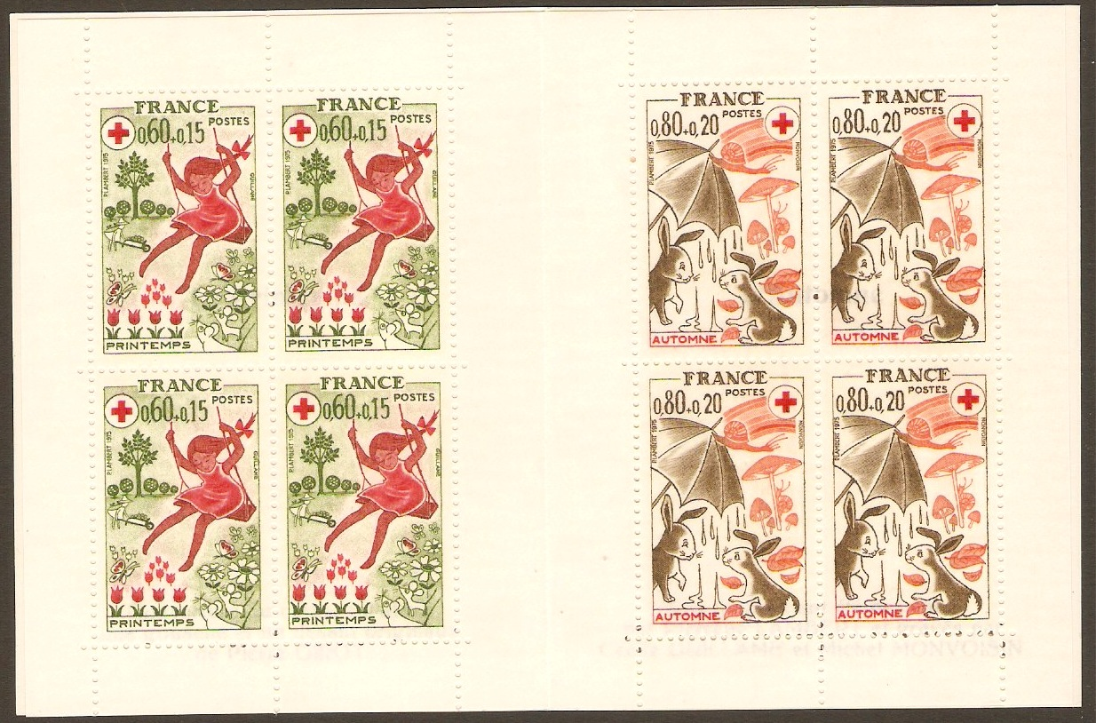 France 1975 Red Cross Stamp Booklet. SGXSB25.