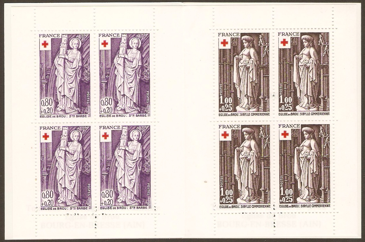 France 1976 Red Cross Stamp Booklet. SGXSB26.