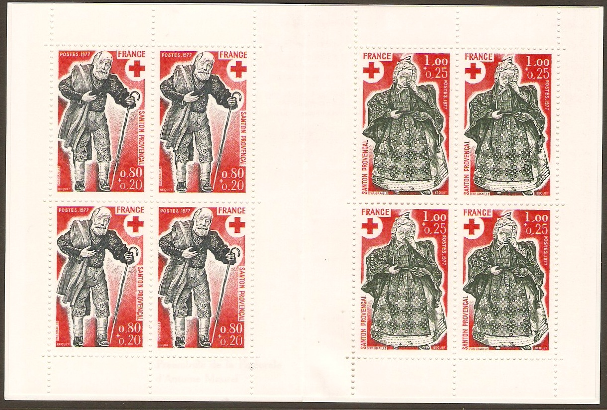 France 1977 Red Cross Stamp Booklet. SGXSB27.