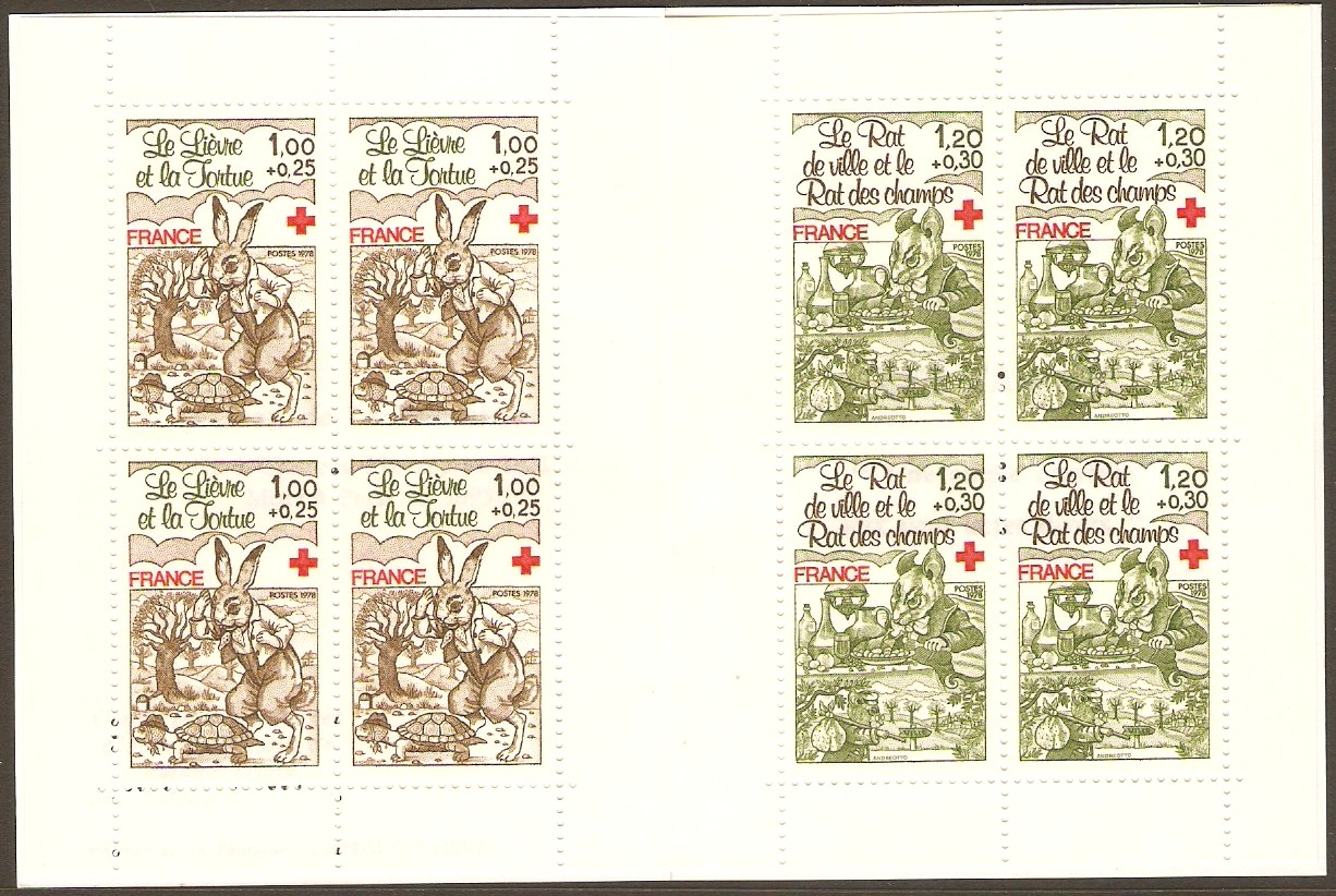France 1978 Red Cross Stamp Booklet. SGXSB28.