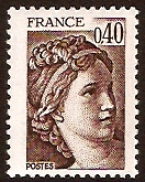 France 1981 40c deep brown. SG2216a.