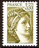 France 1981 3f.50 deep yellow-green. SG2233a.