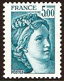 France 1981 5f greenish blue. SG2234a.